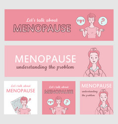 Menopause banners collection vector