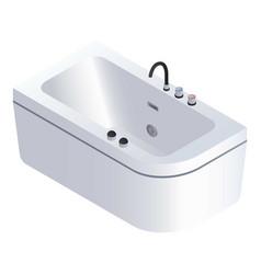 modern bathtub icon isometric style vector image