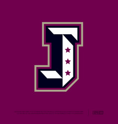 modern professional letter emblem for sport teams vector image