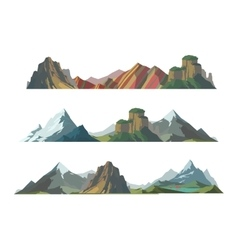 Mountain isolated vector image