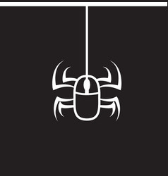 Mouse and spider line logo design vector