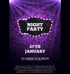 Night party flyer template vector