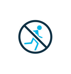 No running icon colored symbol premium quality vector