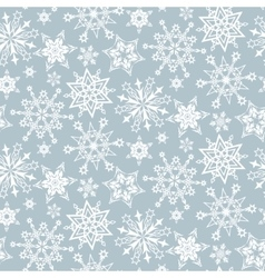 pattern snowflakes vector image