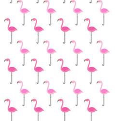 pink flamingo flat seamless pattern vector image