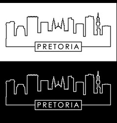 pretoria skyline linear style editable file vector image