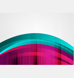 purple and turquoise abstract grunge wavy vector image
