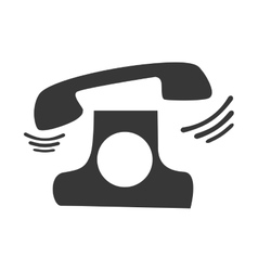 Retro telephone ringing vector