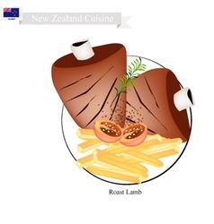 Roasted Lamb The Popular Dish of New Zealand vector