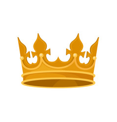 Royal crown heraldic symbol monarchy attribute vector