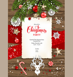 Rustic holiday card vector