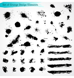 Set of Grunge Design Elements vector image