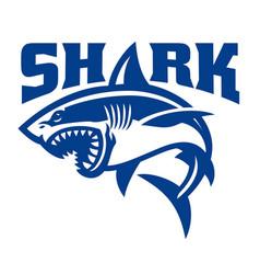 Shark simple logo vector