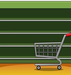 Shelves in a supermarket eps10 equipment flat vector image