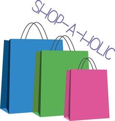Shop-A-Holic vector