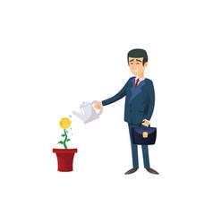 Smart businessman doing investment vector