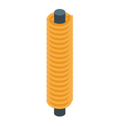 Solenoid coil icon isometric style vector