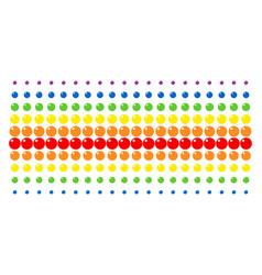 Sphere shape halftone spectral array vector