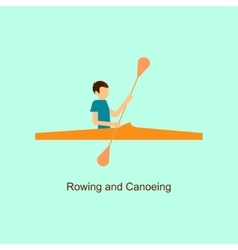 Sport people activities icon rowing and canoeing vector