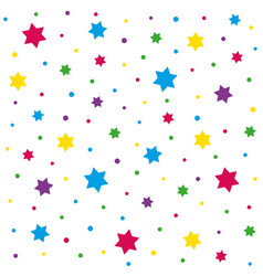 Stars and polka dot pattern vector