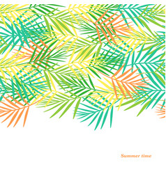 summer cute postcard made of colorful tropical vector image