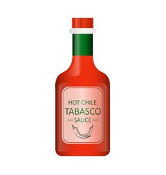 tabasco chili pepper sauce vector image
