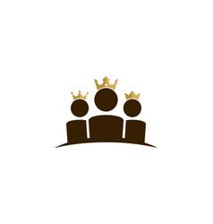 team king logo icon design vector image