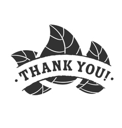 Thank you badge vector image