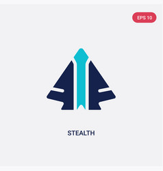 Two color stealth icon from army and war concept vector