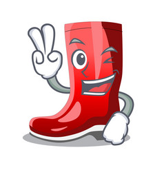 Two finger single of boots isolated on mascot vector