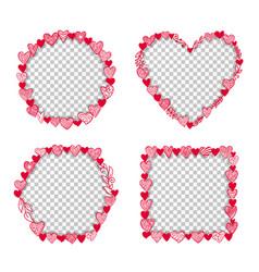 valentine heart frame transparent template vector image