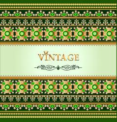 Vintage background elegant antiques victorian vector