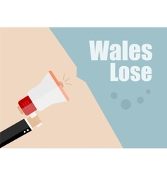 Wales lose flat design business vector