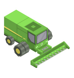 wheat harvester icon isometric style vector image