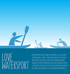 with signature love watersport text and p vector image