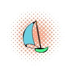 Yacht icon comics style vector image