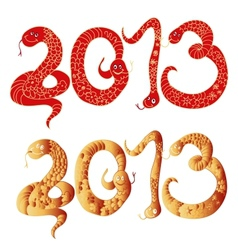 2013 Chinese Year of Snake Numbers vector image vector image