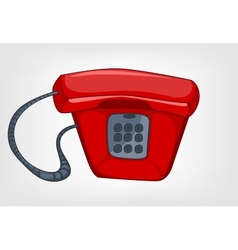 cartoons home appliences phone vector image