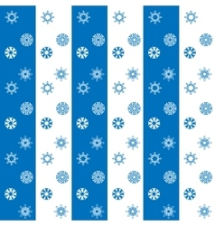 Christmas white and blue snowflakes seamless vector image vector image