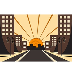 City sunrise vector