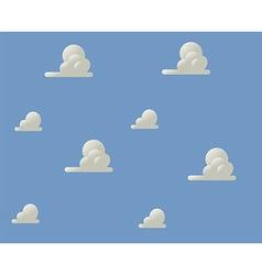 Cloudy blue sky vector image