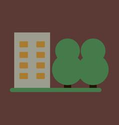 flat icon multi-storey building vector image