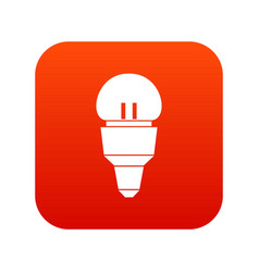 reflector bulb icon digital red vector image vector image