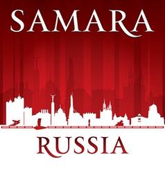 Samara Russia city skyline silhouette vector image vector image
