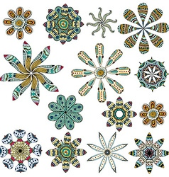 Set of color ethnic patterns vector image vector image