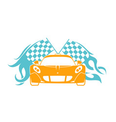 Sports cars flat style vector