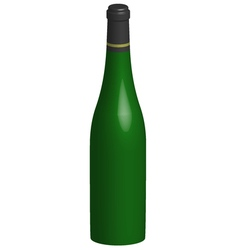 3d bottle of wine vector image