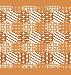 seamless pattern on a orange background vector image vector image