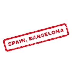 Spain Barcelona Rubber Stamp vector image
