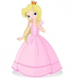 Beautiful princess vector